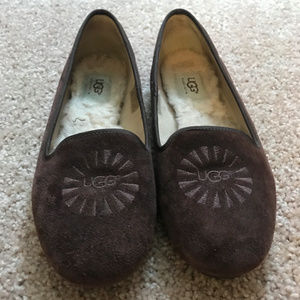 Brown Ugg Lofers, Size 8